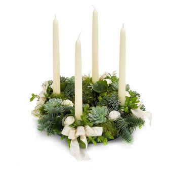 White Advent wreath
