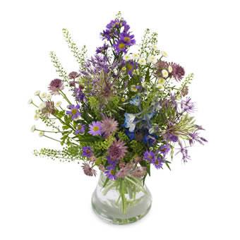 livraison bouquet fleurs des champs violettes. Black Bedroom Furniture Sets. Home Design Ideas