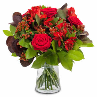 Valentine's bouquet in red - Florist choice