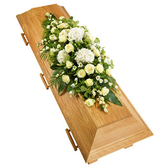 Coffin decoration white