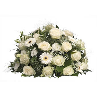 Funeral Spray white green