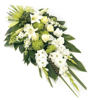 Funeral bouquet in white colours