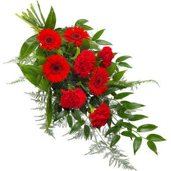 Funeral sheaf in red
