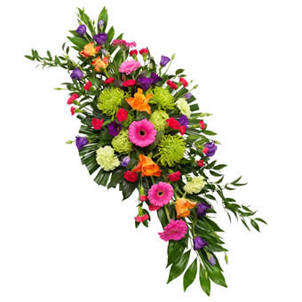 Colorful Funeral Spray