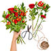 Bouquet fleuriste rouge