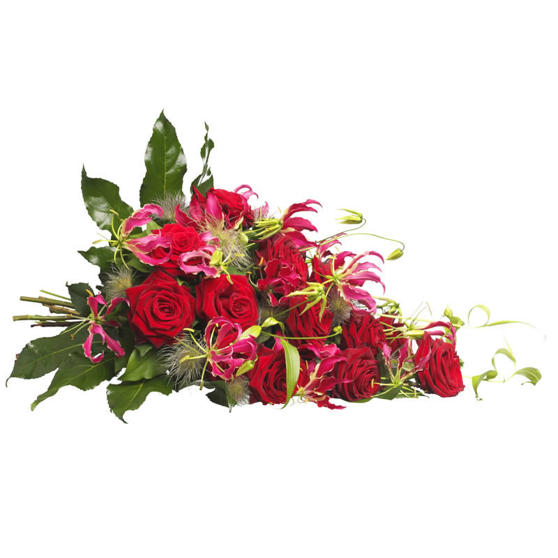 Enduring passion funeral bouquet
