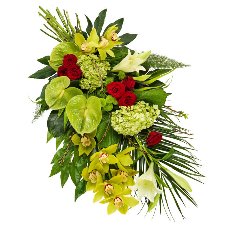 Funeral bouquet in Green