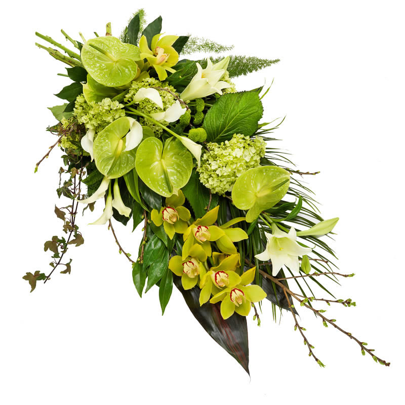 Green Funeral bouquet
