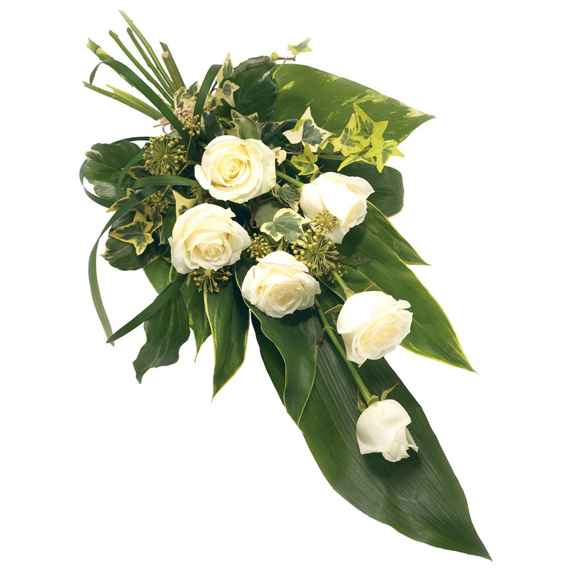 White Rose funeral bouquet