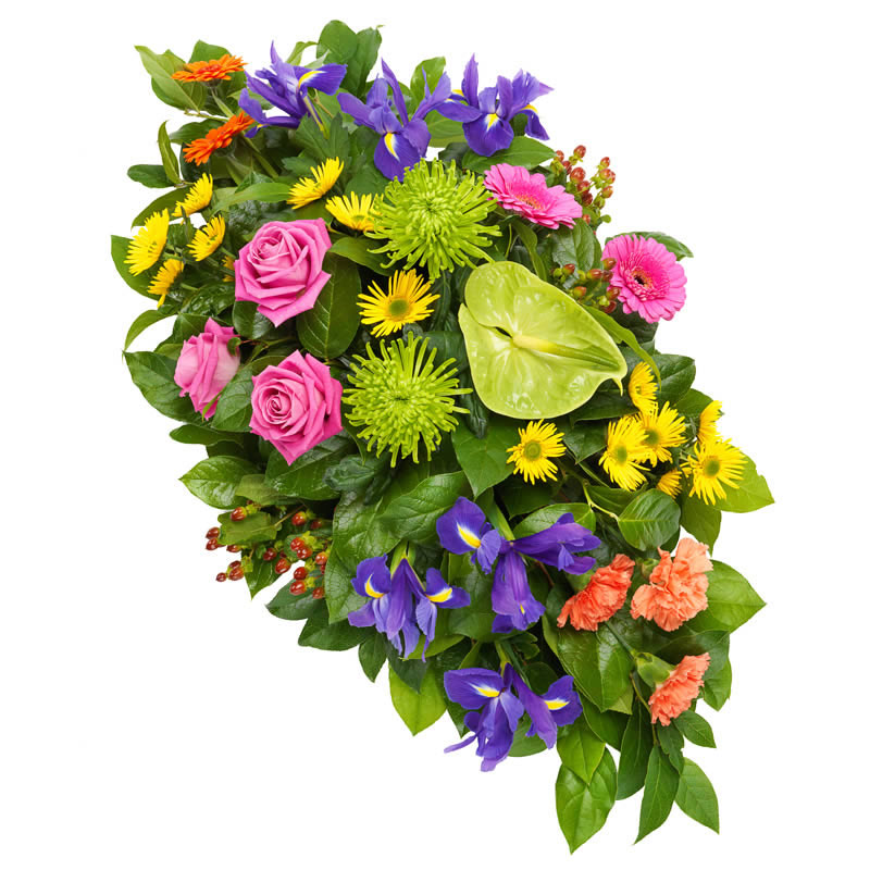 Mixed Colored Funeral Spray
