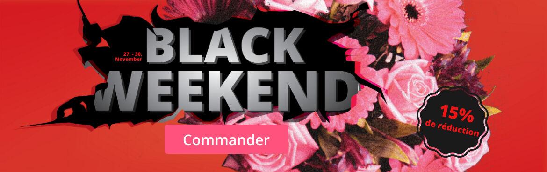 Fleurs Black Friday 15% de réduction