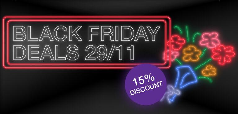 Black Friday Bloemen - 15%* korting met code BF2019