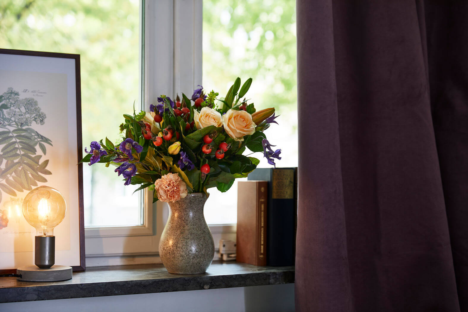 Zet het boeket rozen niet vol in de zon